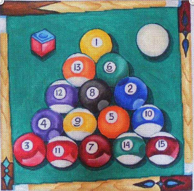 click here to view larger image of Billards (hand painted canvases)