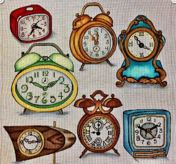click here to view larger image of Retro Time (hand painted canvases)
