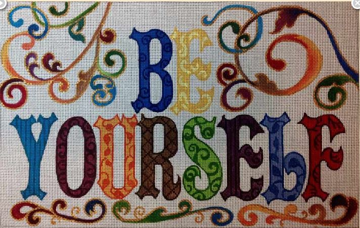click here to view larger image of Be Yourself (hand painted canvases)