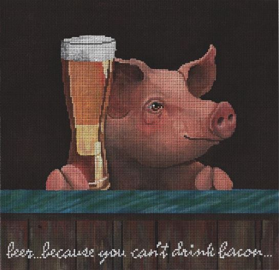 Beer.... because you cant drink bacon hand painted canvases