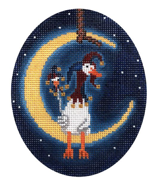 click here to view larger image of Fool Moon Ornament (hand painted canvases)