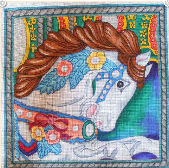 click here to view larger image of Carousel Horse   (hand painted canvases)