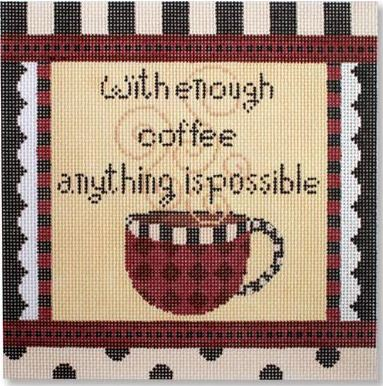 click here to view larger image of Enough Coffee (hand painted canvases)