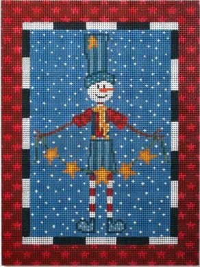 click here to view larger image of Star Snowman (hand painted canvases)
