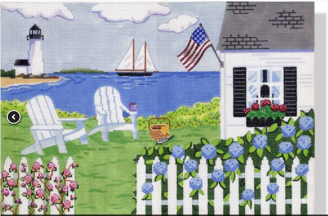 click here to view larger image of Cottage by the Sea    (hand painted canvases)