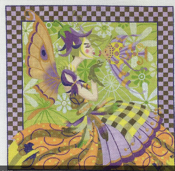 click here to view larger image of Faerie Fish - Kissing Fish (hand painted canvases)
