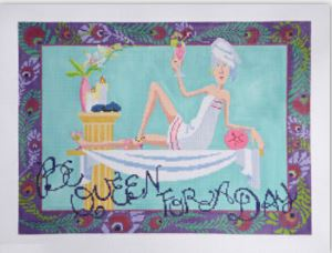 click here to view larger image of Be Queen for a Day (hand painted canvases)