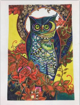 click here to view larger image of Hoot (hand painted canvases)