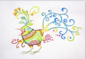click here to view larger image of Pretty Bird (hand painted canvases)