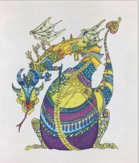 click here to view larger image of Purple Dragon (hand painted canvases)