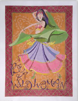 click here to view larger image of Be A Wild Woman (hand painted canvases)