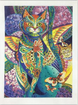 click here to view larger image of Feline Fiesta (hand painted canvases)