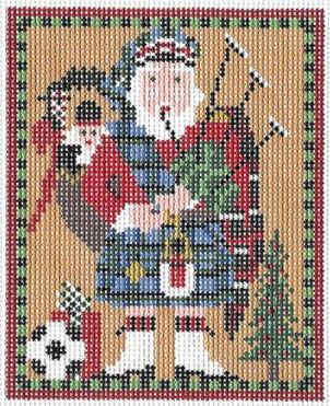 click here to view larger image of Scottish Highland Santa (hand painted canvases)
