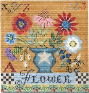 click here to view larger image of Country Flower Sampler Stitch Guide (books)