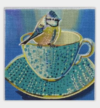 click here to view larger image of Teacup Bird Three (hand painted canvases)