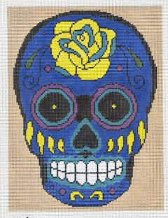 click here to view larger image of Blue Skull (hand painted canvases)