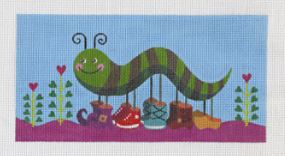 click here to view larger image of Catty Caterpillar (hand painted canvases)