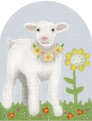 click here to view larger image of Baby Lamb Dome (hand painted canvases)