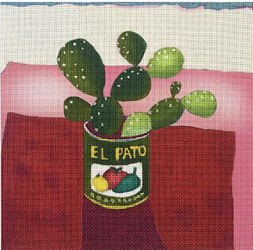 click here to view larger image of El Pato Cactus (hand painted canvases)