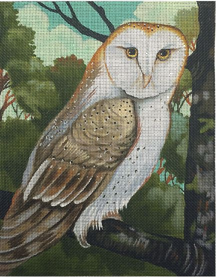 click here to view larger image of Owl   (hand painted canvases)