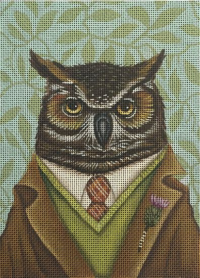 click here to view larger image of Dapper Owl (hand painted canvases)