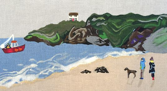 click here to view larger image of Beach (hand painted canvases)