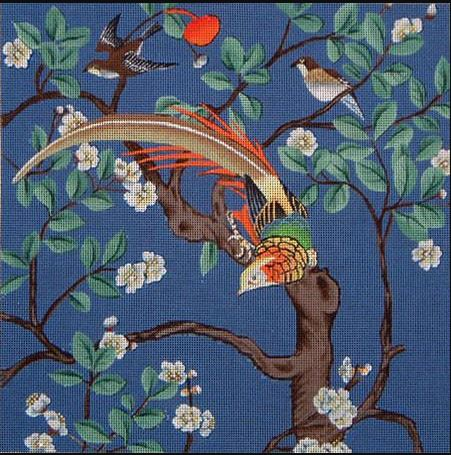 click here to view larger image of Asian Bird in Tree #1 (hand painted canvases)