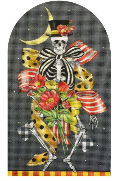 click here to view larger image of Skeleton Party  (hand painted canvases)
