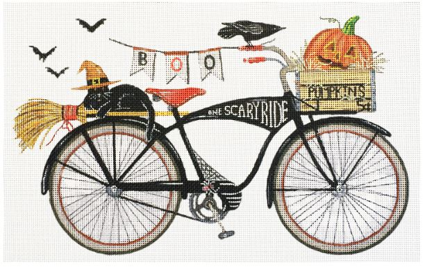 click here to view larger image of Halloween Bike (hand painted canvases)