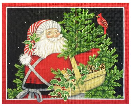click here to view larger image of Santa and the Cardinal  (hand painted canvases)