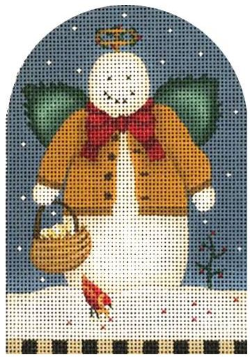 click here to view larger image of Angel Snowman (hand painted canvases)