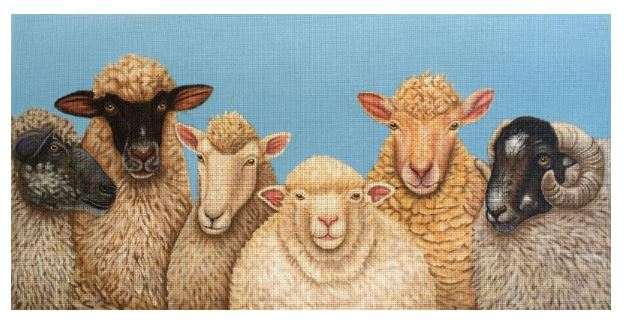 click here to view larger image of Bah Bah Bah Bah-Ram (hand painted canvases)
