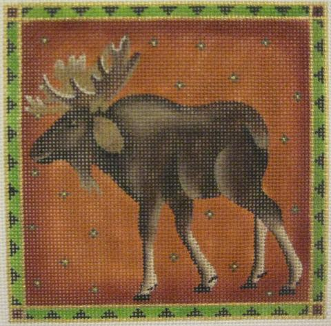 click here to view larger image of Handsome Moose - 13M (hand painted canvases)