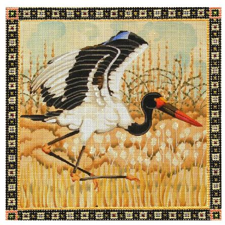 click here to view larger image of Saddle-Billed Stork - 18M (hand painted canvases)