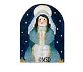 click here to view larger image of Nativity Thimble Mary - 24M (hand painted canvases)