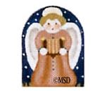 click here to view larger image of Nativity Thimble Rust Angel - 24M (hand painted canvases)