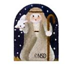 click here to view larger image of Nativity Thimble Shepherd - 18M (hand painted canvases)