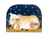 click here to view larger image of Nativity Thimble Ox - 24M (hand painted canvases)