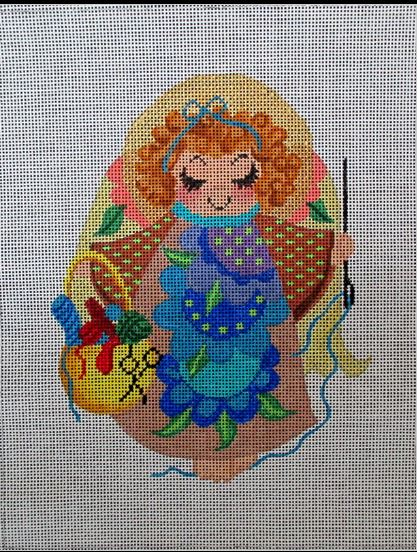 click here to view larger image of Stitching Angel (hand painted canvases)