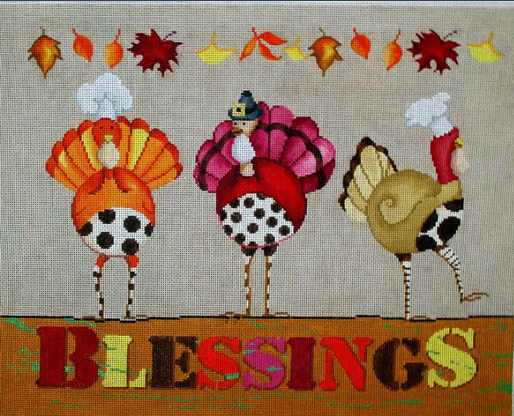 click here to view larger image of Turkey Blessings (hand painted canvases)