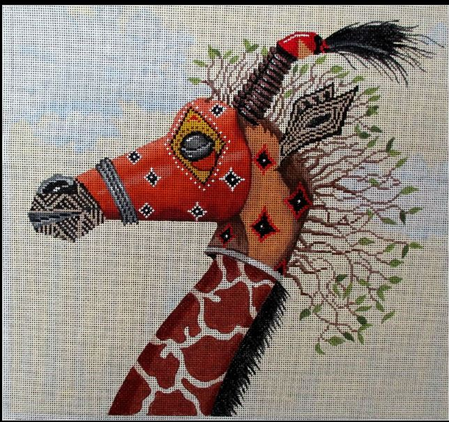 click here to view larger image of Tribal Mask Giraffe (hand painted canvases)