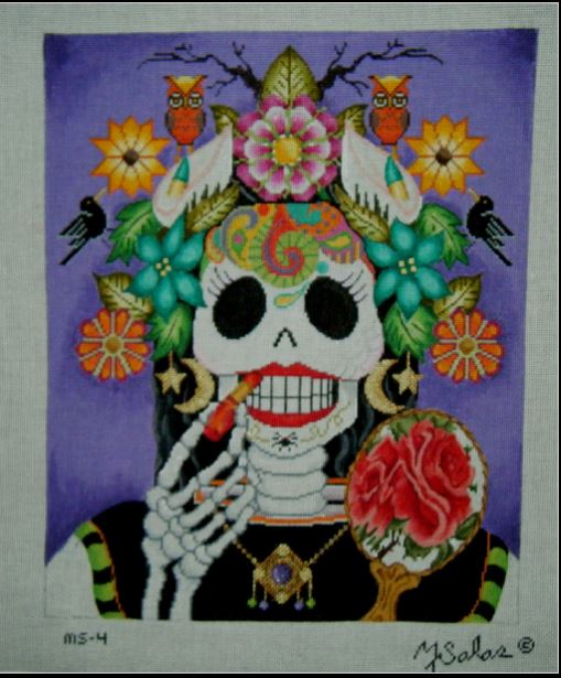 click here to view larger image of Belleza De Halloween (hand painted canvases)