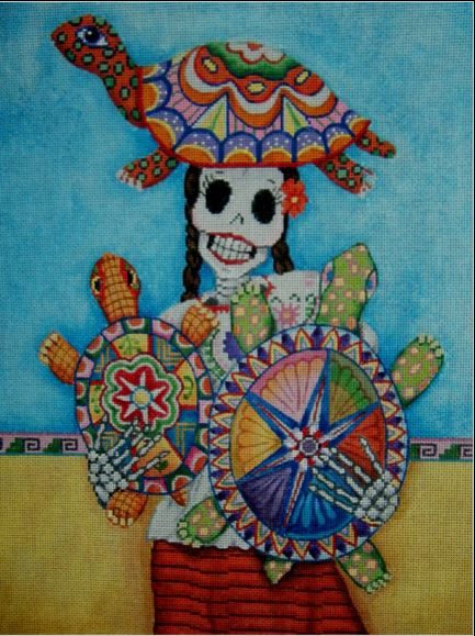 click here to view larger image of Con Sus Tortugas (hand painted canvases)