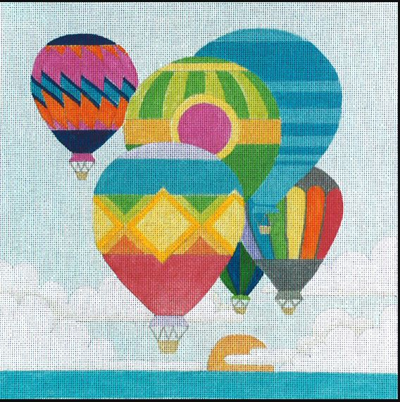 click here to view larger image of Balloons (hand painted canvases)