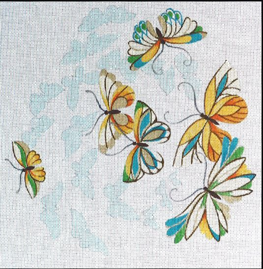click here to view larger image of Butterflies - Butterfly Shadow (hand painted canvases)