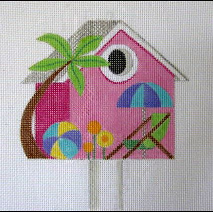 click here to view larger image of August - Beach Birdhouse (hand painted canvases)