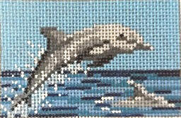 click here to view larger image of Dolphins (hand painted canvases)
