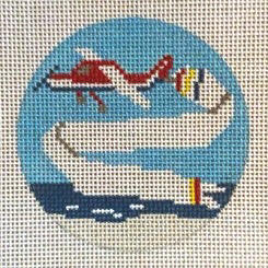 click here to view larger image of Banner Plane Ornament (hand painted canvases)