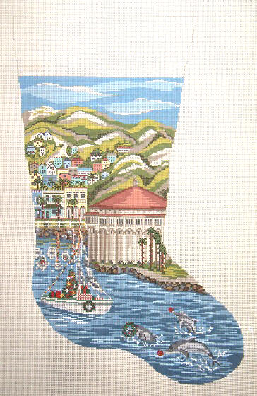click here to view larger image of Avalon/Catalina Stocking (hand painted canvases)