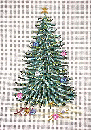 click here to view larger image of Christmas Tree with Shells (hand painted canvases)